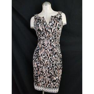 London Times Size 8 Sheath Dress Sleeveless